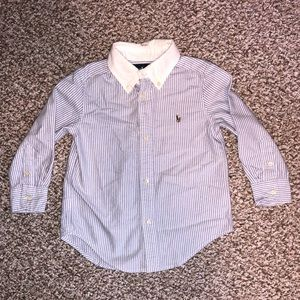 Ralph Lauren Little Boys Striped Button Down